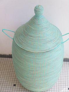 Laundry Basket Purist Blue Large Unique Colored Hamper Rare Etsy