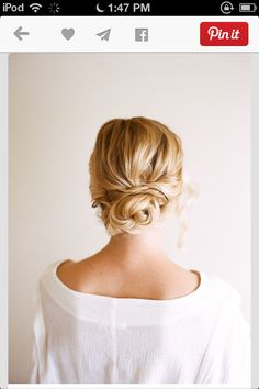 A cute messy bun, for any occasion