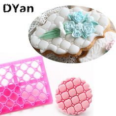 Cheap cake design, Buy Quality sugar craft directly from China embosser cutter Suppliers: New Design Heart Love Shape Fondant CupCake Embosser Cutter Mold Icing Embossing Biscuit Sugar Craft Cake Cake Decorating Tools, Cookie Decorating, How To Use Fondant, Quilted Cake, Biscuit, Tool Cake, Christmas Cake Decorations, Love Shape, Sugar Cake