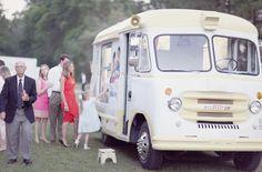 Vintage Ice Cream Truck - Rustic Chic Wedding - Farm Wedding