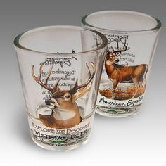 American Expedition Set Of (2) Shot Glasses
