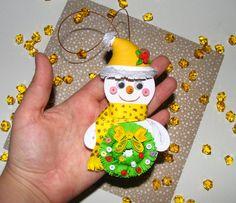 Arbre de Noël jouet Noël bonhomme de neige par QuillingLife sur Etsy