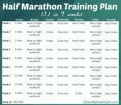 Half Marathon Training Plan - 9-week running schedule for balancing speed, distance, and off days