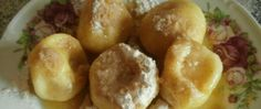 Tvarohové knedlíky Big And Small, Eggs, Potatoes, Cookies, Meat, Chicken, Vegetables, Fruit, Breakfast