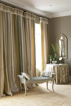Beautiful window treatment. Styling. Colors. via Roses and Rust
