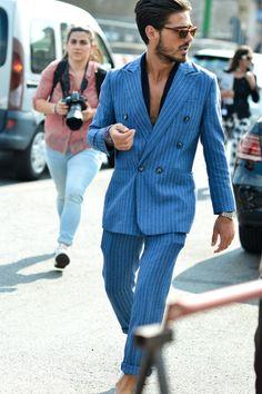 Giotto Calendoli, Milan Mens Fashion Week - Bob Trotta is a high end, men's… Fashion Week Hommes, Milan Men's Fashion Week, Mens Fashion Week, Fashion Weeks, Street Fashion, Mode Masculine, Stylish Men, Men Casual, Tailored Suits