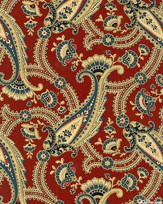 Northgate Manor - Palace Paisley Bouquets - Cinnamon Red