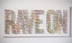 How to: Make Typographic String Art » Man Made DIY | Crafts for Men « Keywords: wood, typography, diy, design