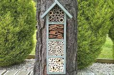 8 Ways You Can Help Save The Bees - A bee hotel provides shelter for bees to raise their young.