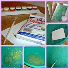 DIY: Marmoriertes Briefpapier selber machen! Simpel, hübsch und vor allem einzigartig!