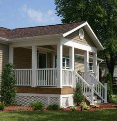 1 Modern manufactured home porch idea