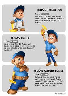 Disney Meets Pokémon - Wreck it Ralph Collection- Felix 64 = Felix = Super Felix = by Ry-Spirit Disney Pixar, Disney Memes, Disney Quotes, Disney Fan Art, Disney And Dreamworks, Disney Animation, Disney Love, Disney Magic, Disney Characters