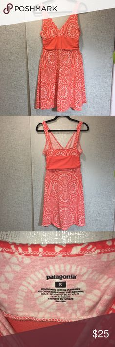 Patagonia Sun Dress Patagonia sun dress in a fun and flirty orange color! Perfect for spring. Excellent used condition. Size small. 100% cotton. Patagonia Dresses