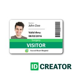id card template card templates visitor badges plastic business cards id badge
