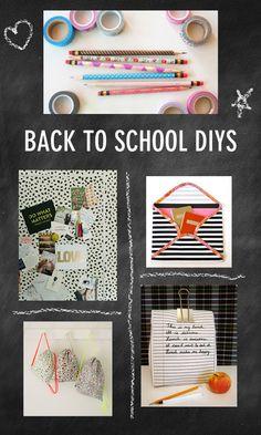 Back to School DIYs