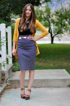 DIY stretchy pencil skirt