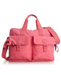Kipling pink dahlia dipe bag.