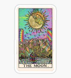 Pegatina Psychadelic Tarot- The moon
