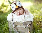 Brown Owl Hat Photography Photo Prop