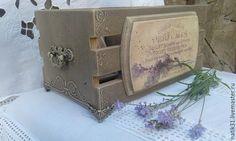 """Купить Винтажный короб """"Завтрак с Жозефиной"""" - шкатулка ручной работы, шкатулка для украшений, подарок"""