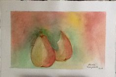 A pair of pears!  Watercolor (2014)