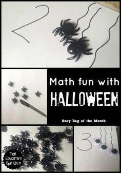 Halloween Math Fun for Toddlers and Preschoolers for Busy Bag of the Month