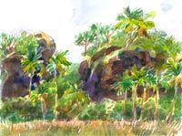Mangaia, Tamarua Cliffs