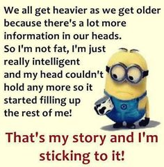 That's my story & I'm sticking to it