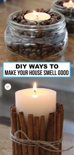 DIY Ways to Make Your House Smell Good Home Candles, Best Candles, Diy Candles, Homemade Candles, Scented Candles, Candle Jars, Simmering Potpourri, Potpourri Recipes, House Smell Good