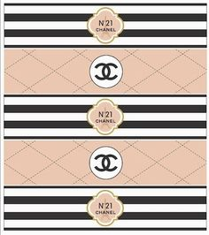 Chanel Free Printable Party Kit.