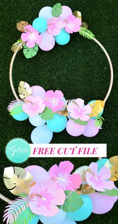Hawaiian Party Decorations, Diy Birthday Decorations, Flamingo Birthday, Flamingo Party, Paper Flowers Craft, Flower Crafts, Tropical Party, Flower Template, Luau Party