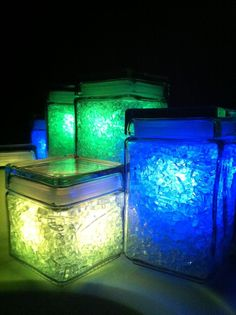 How to make broken glass color-changing lamps.  This is really cool and creative, of course there aren't actually candles in them...