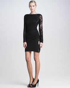 Lace-Mesh Paneled Dress by Jean Paul Gaultier at Bergdorf Goodman.too sexy!!!!!!!!! French Designers are the best I guess...