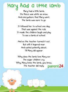 - Mary had a little lamb