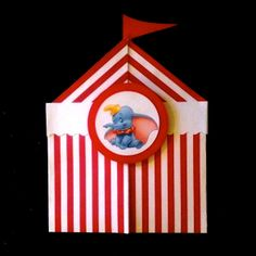 I made these invitations for our Dumbo Circus Train Party---Striped Paper Tents… Circus Theme, Circus Party, Dumbo's Circus, Circus Font, Circus Train, Dumbo Birthday Party, 1st Boy Birthday, 3rd Birthday Parties, Dumbo Baby Shower
