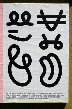 """Participation àFicciones Typografika 036(24""""x36"""") initié par Erik Brandt. Affiche composée aveclalphabet C initialement dessiné pour le poster re_type."""