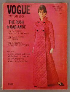 Vintage VOGUE Pattern Book Fashion DECEMBER by vintagevasso, $38.99