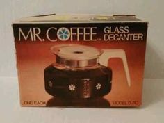 Mr. Coffee 10 Cup Glass Decanter Pot Model D-7C New Universal Replacement Unused