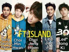 FT ISLAND | Seunghyun, Minhwan, JongHoon, Jaejin y Hongki