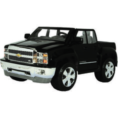 The RollPlay Kids' Chevy Silverado Ride-On Vehicle reaches speeds of 2 - 5 mph and features durable plastic construction. Toy Cars For Kids, Power Wheels, Balance Bike, Kids Ride On, Ride On Toys, Pedal Cars, Kick Scooter, Chevy Silverado, Kids Store