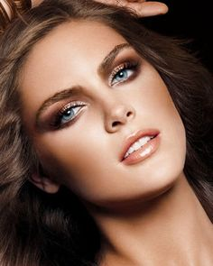 """""""Use a pale neutral or pastel shade to create a slight triangle from the inner corner of the eye up to the front of the brow and blend ..."""" 