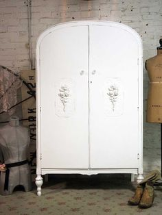 Painted Cottage Chic Shabby White French by paintedcottages, $425.00