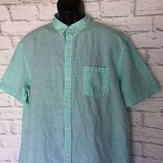 5159ad95d8a3e NAT NAST Mens Size 2XL Luxury Originals Linen Blend Shirt American Fit   NatNast  ButtonFront