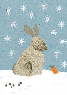 Christmastcard illustrated by studio Gloeiworm; seen on HappyMakersBlog.com