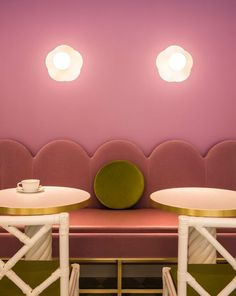 India Mahdavi creates a pink Parisian fantasy in Ladures Tokyo tea salon | Known as the queen of colour, Mahdavi uses a palette of celadon-greens and bonbon pinks. With typical brilliance, she elevates what could be a kawaii-cute tone with sophisticat