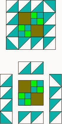 Sew Block Quilt simple quilt block pattern how to Quilt Square Patterns, Barn Quilt Patterns, Pattern Blocks, Quilting Patterns, Patch Quilt, Quilt Blocks, Southwestern Quilts, Indian Quilt, Half Square Triangle Quilts