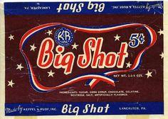 Big Shot candy bar wrapper