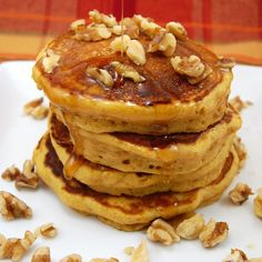 Pumpkin Pancakes….super fluffy and packed with pumpkin flavor! Always a fall favorite!