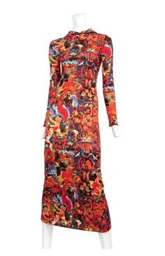 Jean Paul Gaultier Hooded Maxi Dress, Chinese Propaganda Imagery from 60s 70s S  | eBay