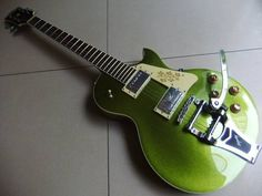 Wholesale new 1959 electric guitar with bridge bigsby in green  6 string guitar top quality 110813